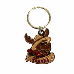Keychain RCMP Moose / Porte-clé avec orignal de la GRC