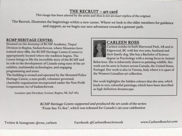 Art Card The Recruit / Carte d'Art La Recrue