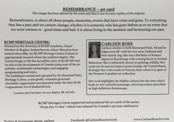 Art Card Remembrance /  Carte d'art Souvenir