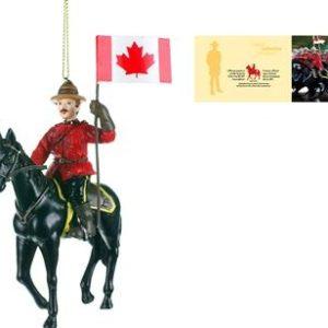 Christmas Ornament Horse and Rider /Ornement de Noël du cavalier