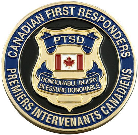 PTSD Challenge Coin / Pièce de défi TSPT