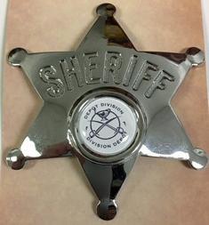 Sheriffs Badge with the Depot Logo / Badge des shérifs avec le logo du dépôt