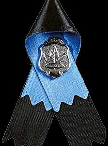 Police & Peace Officers' Memorial Ribbon / Le ruban commémoratif des policiers et agents de la paix