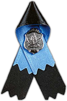 Police & Peace Officers' Memorial Ribbon / Le ruban commémoratif des policiers et agents de la paix