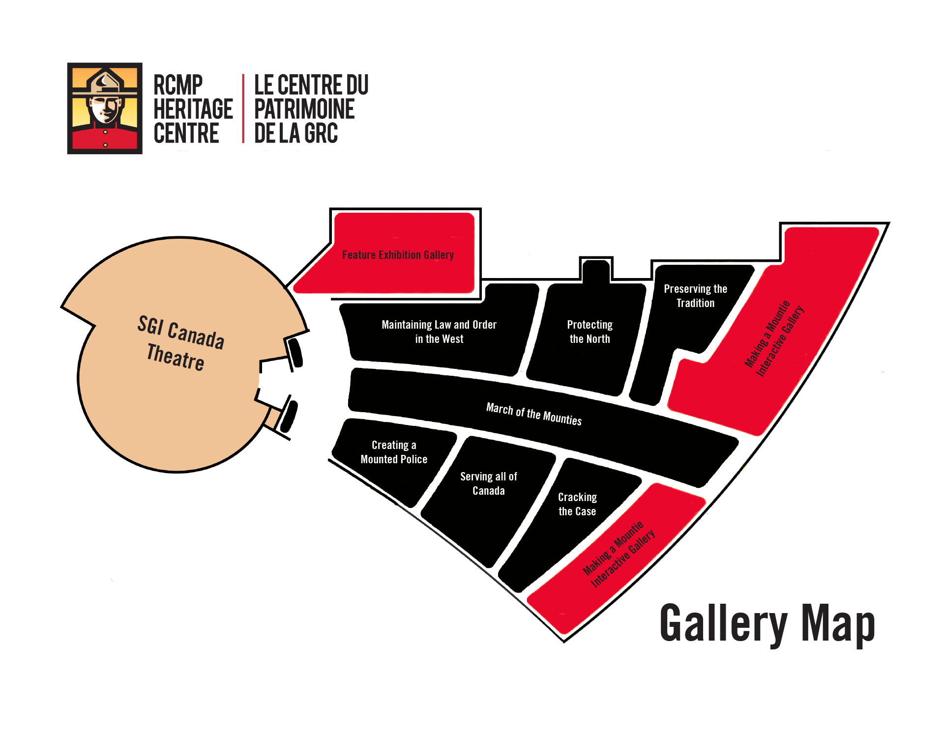 RCMPHC Gallery Map English